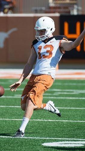 Michael Dickson at University of Texas pre-season training. Source: texassports.com