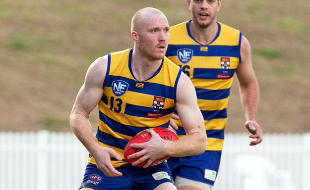 Sydney University's Tom Young in action. Source: AFL Media