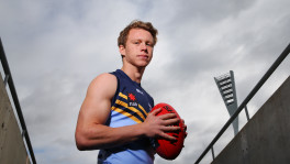 Sydney young gun Cal Mills is almost certain to be a top ten Draft pick. (Photo by Michael Dodge/AFL Media)