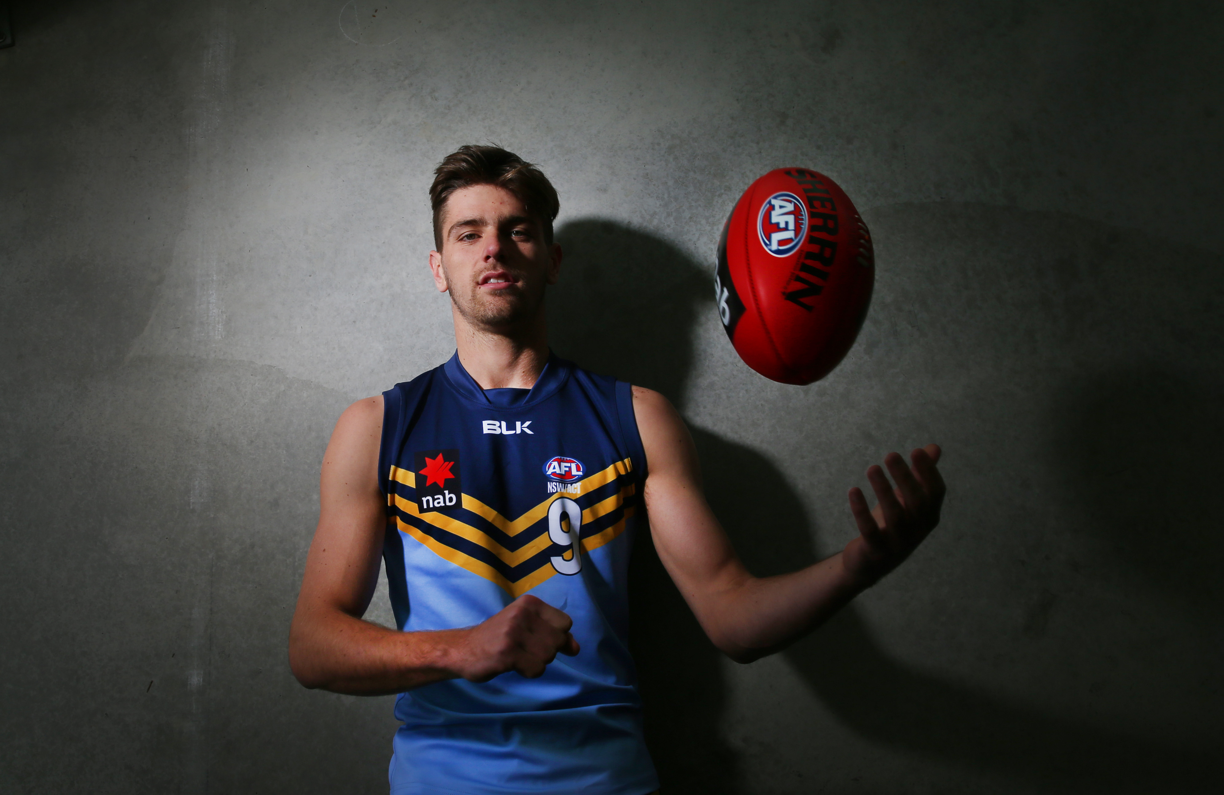 Jock Cornell of NSW/ACT poses during the 2015 AFL Under 18 portrait session at Simonds Stadium, Geelong on June 27, 2015. (Photo by Michael Dodge/AFL Media)