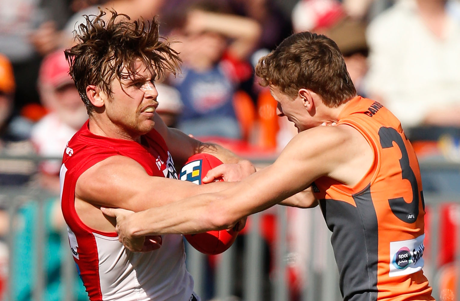 The Swans and GIANTS will play two derbies in the first 12 rounds of 2016. (Photo by Michael Willson/AFL Media)