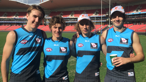 Harrison Macreadie, Harry Perryman, Kobe Mutch and Zach Sproule at Spotless Stadium