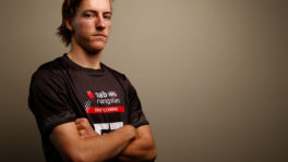 Will Setterfield poses during the NAB AFL Draft Combine (Photo by Adam Trafford/AFL Media)